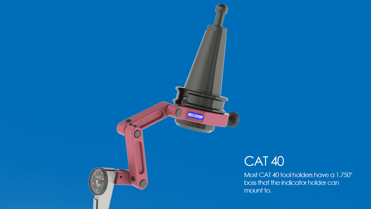 indicator holder CNC milling maching CAT 40 indacol clamp reach