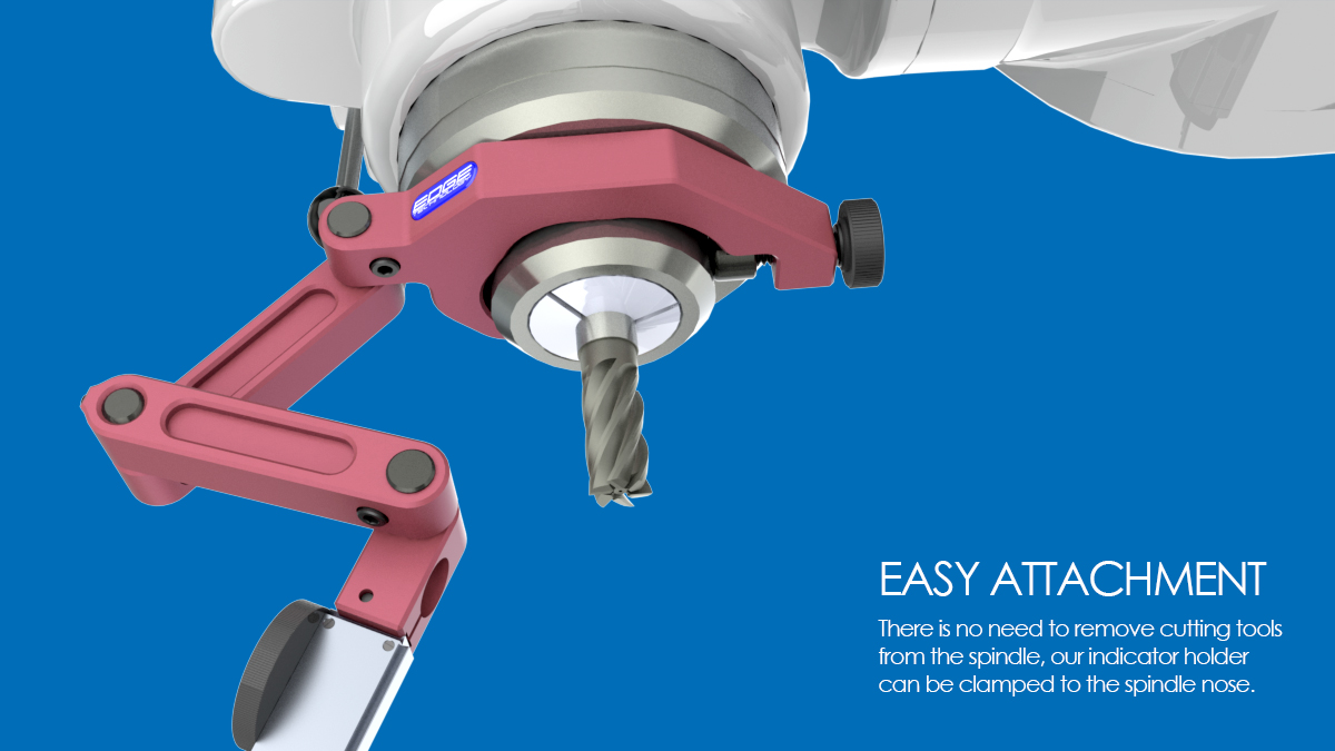 indicator holder bridgeport milling maching spindle indacol clamp