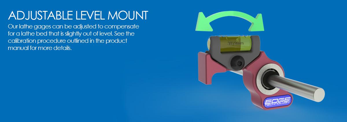 pro lathe gage adjustable level mount
