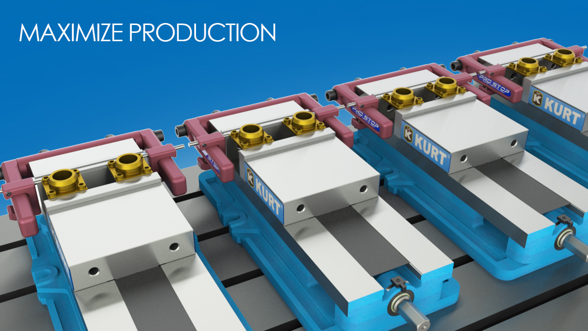 pro vise stop double haas cnc milling maching kurt 3 vise
