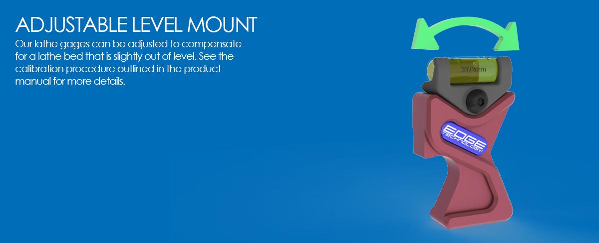 speedy lathe gage adjustable level mount